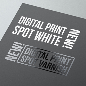 digital print white and spot varnish