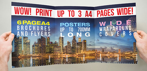 print up to 700mm wide